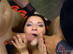 Czech Babe Kattie Hill Gets Mouth Fucking With Bukkakes